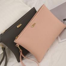 2017 spring new Korean female leisure pu leather envelope bag clutch