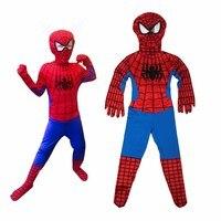 سبايدرمان حلي أطفال 3d الطفلة مذهلة الرجل العنكبوت قناع زي دعوى الأولاد دنة أسود أحمر هالوين الكبار الرجال تأثيري