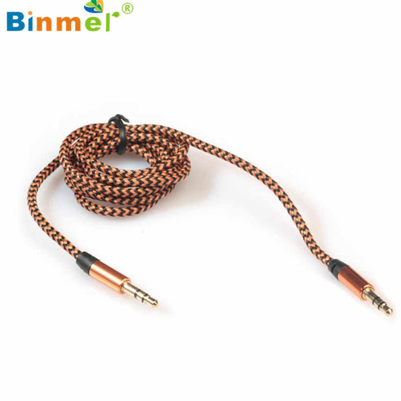 Binmer 2017 Gratis bezorging 1pc 3.5mm Stereo Auto Auxiliary Audio Kabel Man Op Man voor Smart Telefoon USB converter September 12