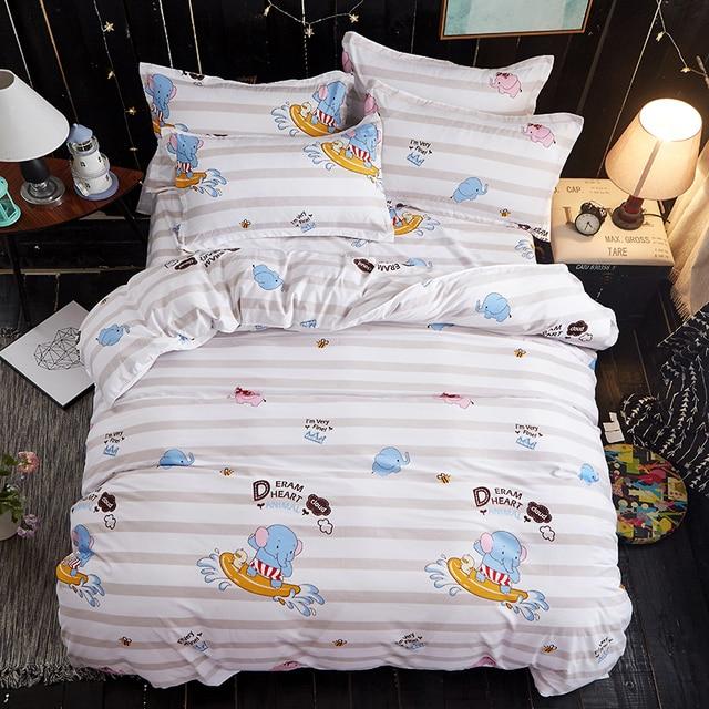 Cute baby elephant Winter Bedding Set king size Luxury fashion duvet ...