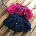 New fashion girls pearl tutu skirts baby fleece warm skirt childrens chiffon fluffy pettiskirts kids Hallowmas casual cloth