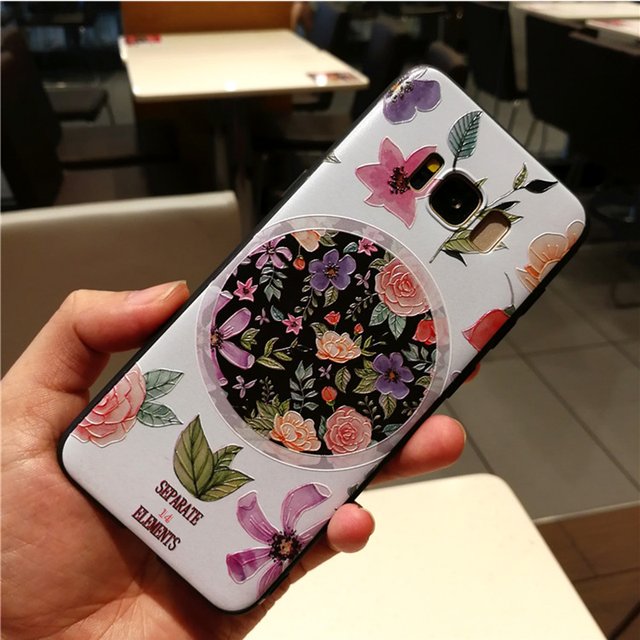 3D Emboss Flower Case For Samsung Galaxy A70 A60 A50 A40 A7 A6 A8 S8 S9 S10 Plus Note 8 9 For iPhone X XS Max XR 7 8 6 Plus Case