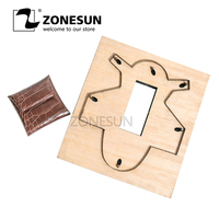 ZONESUN Z101 Customized leather cutting die handicraft tool coin purse punch coin pouch cutter mold DIY paper laser knife die