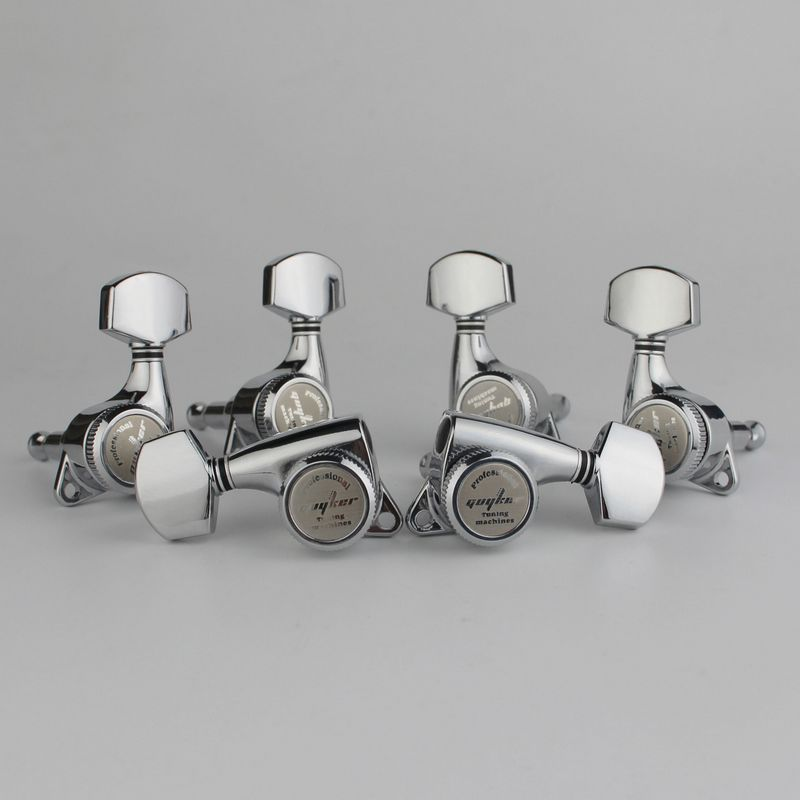 GUYKER Chrome Guitar Locking Tuners Electric Guitar Machine Heads Tuners Lock Silver Guitar Tuning Pegs ( With Packaging)