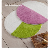 New Strong Water Round Carpet Absorption Bath Mat Anti skid Rug Soft Carpet For Bath From Living For Door Mat 56cm*56cm