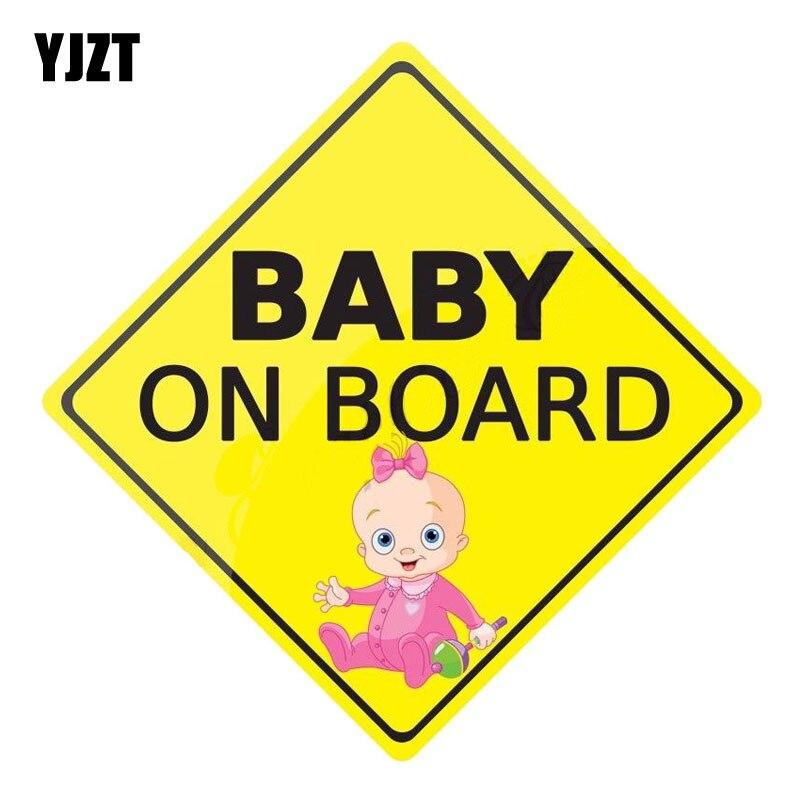 Yjzt 14 см x 14 см ребенок на борту интересные Предупреждение знаки персонализированные Наклейки для автомобиля светоотражающие наклейки c1-6067