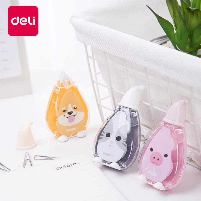 Deli 1pcs Correction Tape Cartoon Student Altered 5mm*6 Meters Cute Modification With Learning Stationery Correction Belt 7241