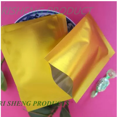 9x13cm Ping Pocket 200 X Golden Matte Aluminum Bags Heat Sealable Top Open Dumb Aluminized Mylar Foil Plastic Pouch Food Sachet In Storage From Home