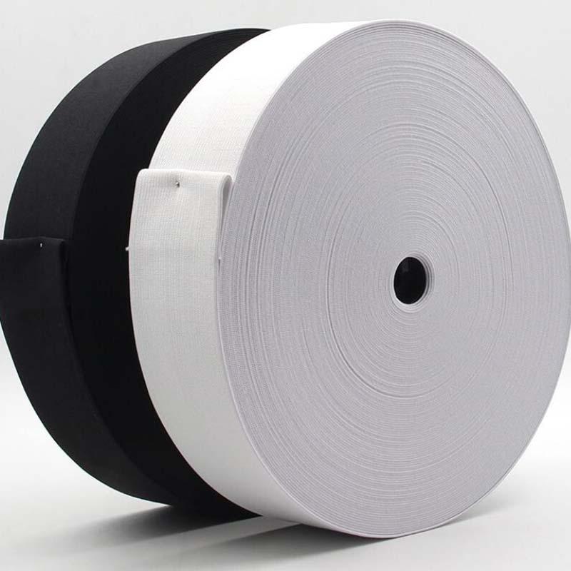 2meter Black Flat Elastic Band Width 20mm 40mm 50mm DIY Sewing Clothing Accessories Nylon Webbing Garment Sewing Accessories
