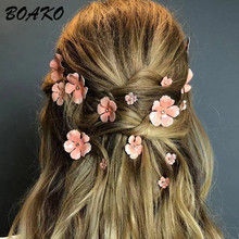 5Pcs/Set Women Girls Floral Hair Clips Barrettes Flowers Pins Styling Headband Bride Wedding Party Accessories