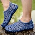Homens Da Moda Chinelos de Verão Praia sandálias Sapatos Plus Size Respirável Macio Apartamentos Crocs Geléia shoes Chaussure Homme HM2255