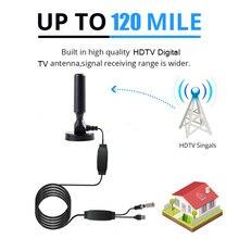 цены на Indoor 320 Miles Digital TV Antenna TV satellite Signal Receiver Amplifier TV Radius Surf Fox Antena HDTV Antennas Aerial DVB-T2  в интернет-магазинах