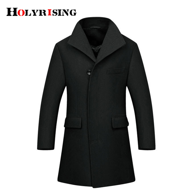 686d7178e Holyrising Wool Coats Men Classic Chaquetones Hombre Thick Mens Overcoat  Woolen Blend Jacket For Man Clothes Casual Top 18255 5-in Wool & Blends  from ...
