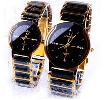Mode LONGBO Marque Strass Exquis Cadeau Top Qualité En Céramique montre Femme hommes Lovers Montres Commerciale quartz horloge