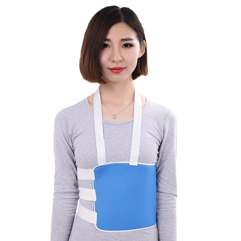 Rib fracture fixation with chest strap is comfortable