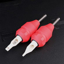 Newest Disposable 30mm Red Tattoo Needles Cartridges Grips For Tattoo Supply back stem