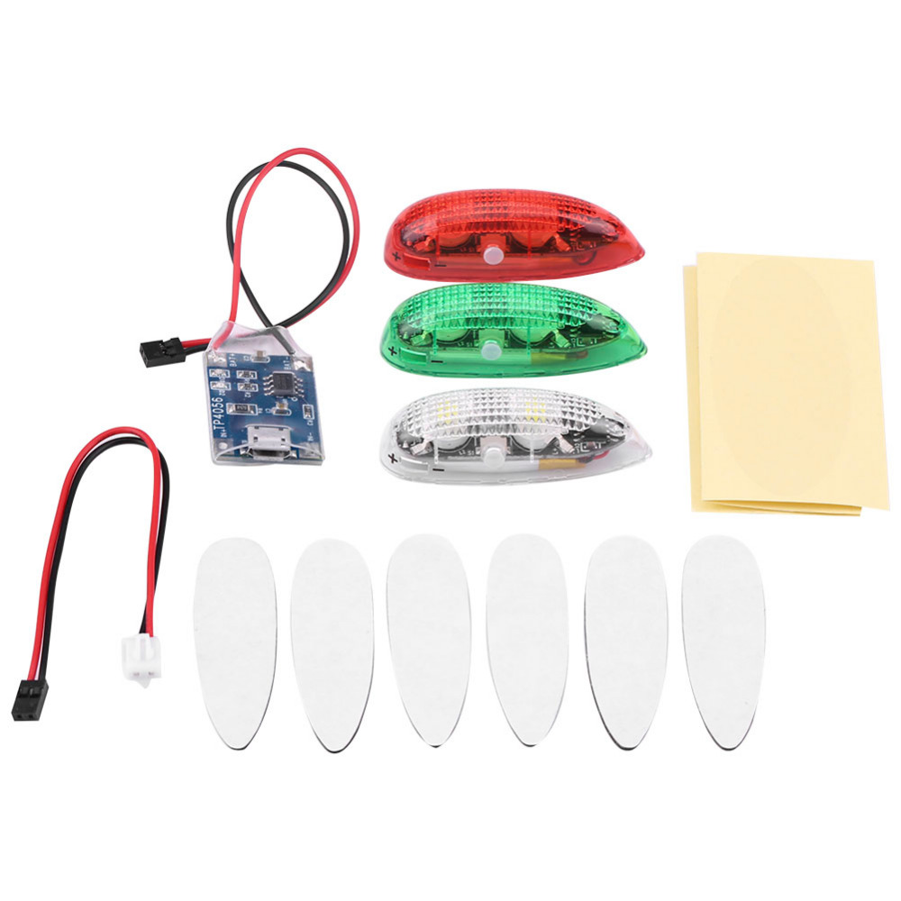 RC Drone <font><b>LED</b></font> Light, 3pcs/set Drone Flash <font><b>LED</b></font> Wireless Light for RC Fix <font><b>Wing</b></font> Airplane Helicopter <font><b>LED</b></font> Light with Charging Cables