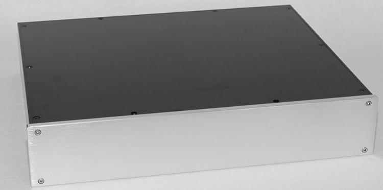 WA119 Aluminum Audio Amplifier Housing Case Preamplifier Chassis HiFi Class A Amp Box 425*80*350mm 3206 amplifier aluminum rounded chassis preamplifier dac amp case decoder tube amp enclosure box 320 76 250mm