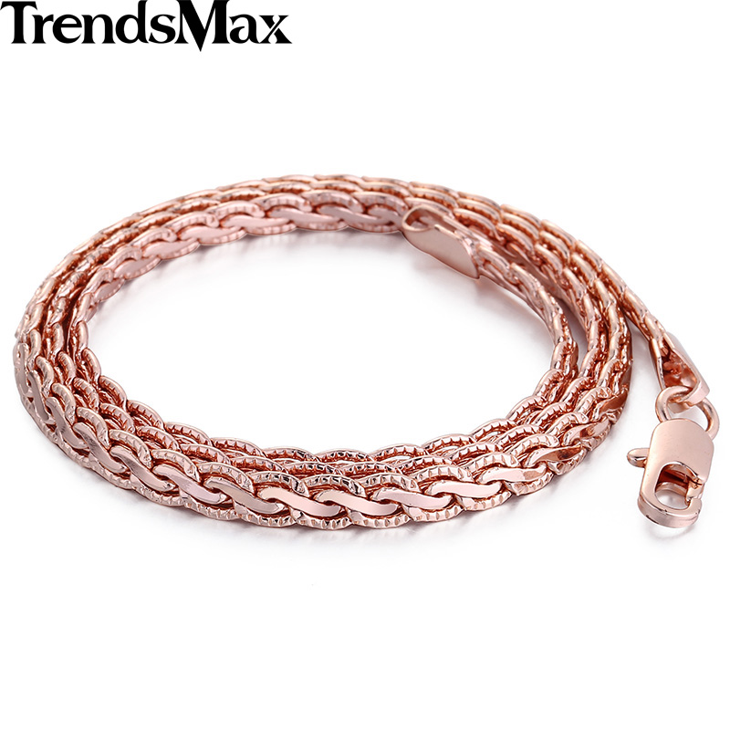 HTB1EYrOQXXXXXahXXXXq6xXFXXXB - Trendsmax Rose Gold Filled Womens Mens Necklace Wheat Chain Jewelry 5mm GN214