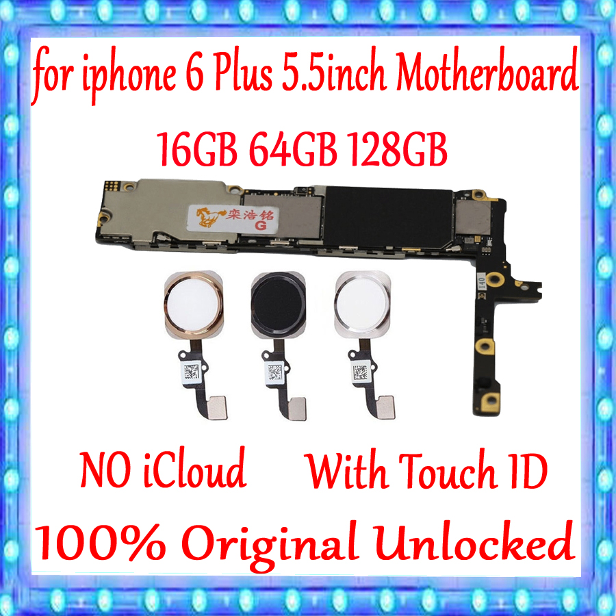 For iPhone 6 Plus 5 5 inch Motherboard With Touch ID Without Touch ID 100 Original