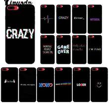7e672361735 Yinuoda Color Texto en un fondo negro Funda de teléfono de calidad de  cliente para Apple iPhone 8 7 6 6 S Plus X XS X MAX 5 5S S..