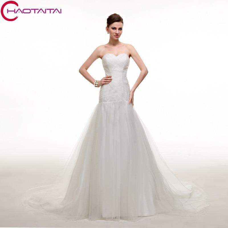 Wedding dresses cheap 2017 fashion luxury long slim for Slim white wedding dresses