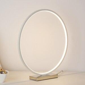 Image 3 - Nordic Kreative Kunst Deco Dimmbare LED Tisch Lampe Minimalismus Moderne Runde Schreibtisch Tisch Licht Nacht Lampe Persönlichkeit Geschenk