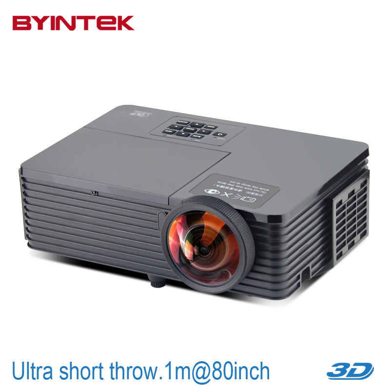 BYINTEK BD510ST Short throw Daylight USB HDMI Rear Hologram Home Theater XGA 1080p full HD 3D DLP Projector for church hall new short throw 300inch dlp hologram 3d projector hd pc usb vga daylight 1080p rear video beamer lamp for education school