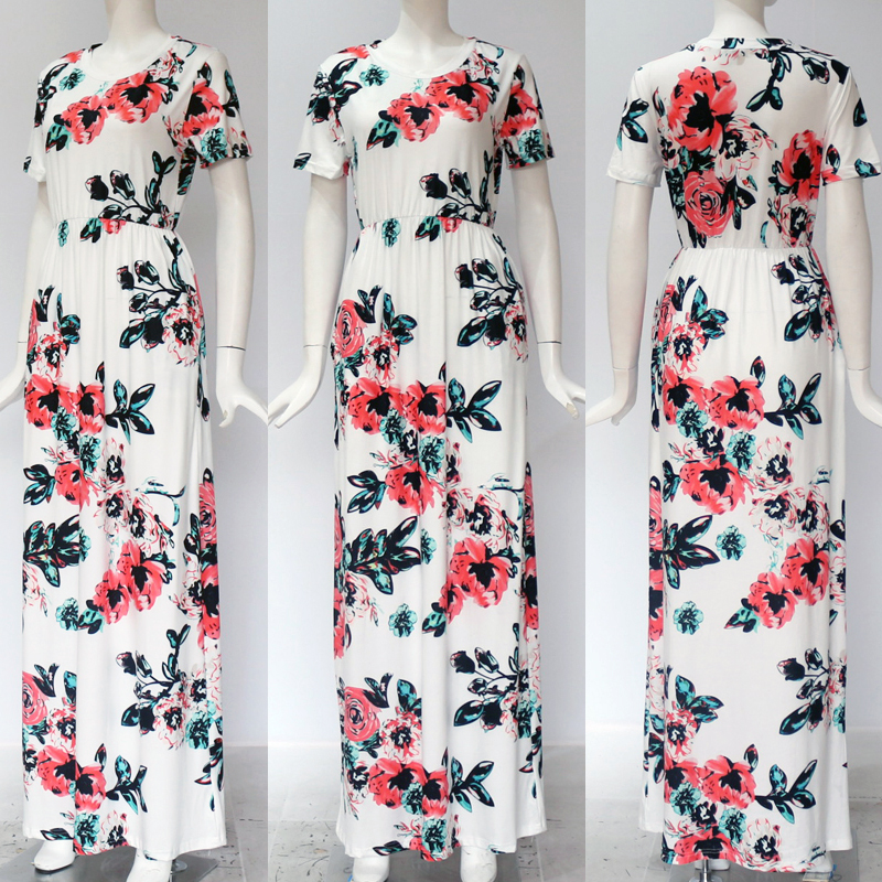 19 Summer Long Dress Floral Print Boho Beach Dress Tunic Maxi Dress Women Evening Party Dress Sundress Vestidos de festa XXXL 23