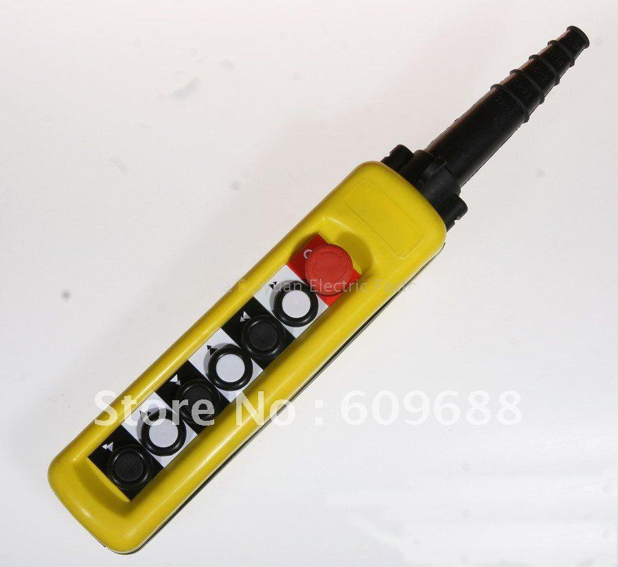 Interrupteur à bouton poussoir étanche, interrupteur de grue, contrôleur pendentif