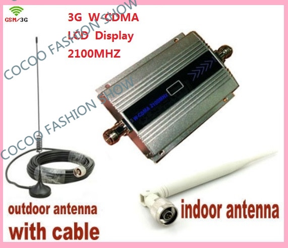 W CDMA 2100Mhz Cell Phone Signal Amplifier 3G Repeater