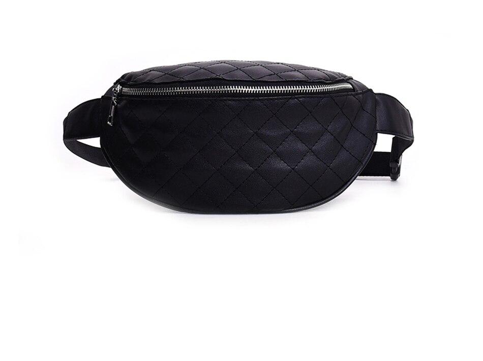 8d0834890e625 US $7.87 31% OFF|AIREEBAY Fanny Pack For Women Belt Bag Female Waist Bag  Black Leather Waist Packs Crossbody Bags Female Money Belt Bum Bag-in Waist  ...