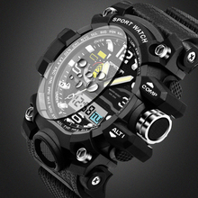 2016 Men's Quartz Digital  Fashion Sports Watches SANDA G Shock Relogio Masculino Relojes LED Military Waterproof Wristwatches