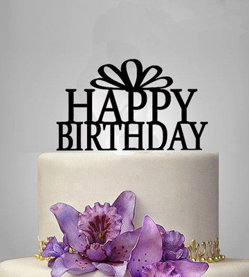 1 Stucke Happy Birthday Cake Topper Acryl Elegante Geburtstag Partydekorationen Kinder Partei Liefert Kuchen Dekor Freies Verschiffen In