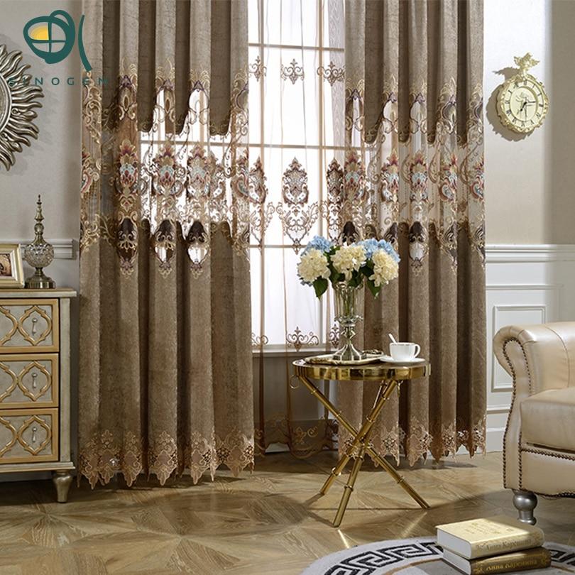 Sinogem New Windows Curtains European Luxury Modern Shade Blackout Elegant Printing Curtain For Living Room