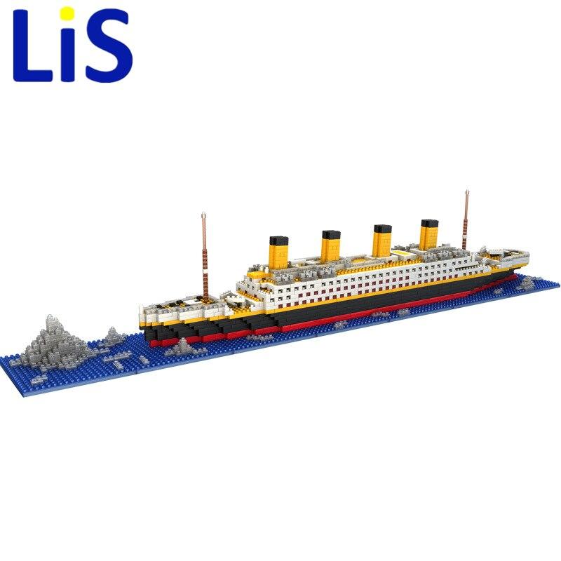 Lis LOZ Die Titanic DIY Montieren Bausteine Modell Klassische Spielzeug Geschenk für Kinder Kompatibel legoings freunde