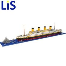 Лис LOZ Титаник DIY собрать строительных блоков Модель Классические игрушки подарок для детей