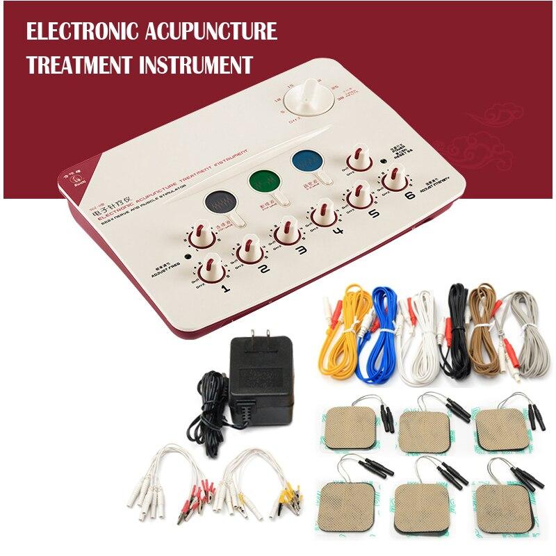 Stimulation électrique Appareil de Thérapie D'acupuncture 110 v 220 v Appareil Thérapeutique 6 Canal De Sortie