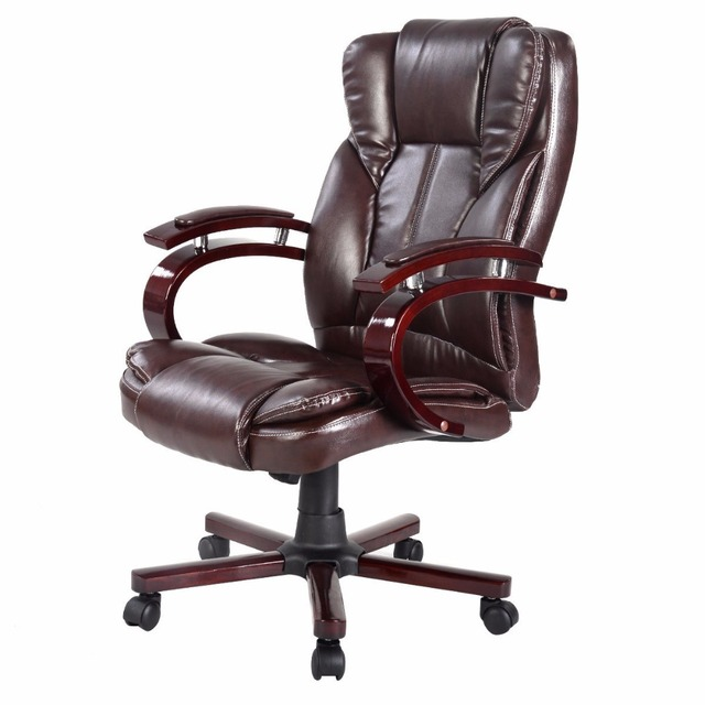 Goplus Ergonomic Desk Task Office Chair High Back Executive Computer Gaming  Chairs New Style Brown Living