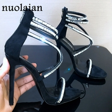 2018 Womens Spring Sandals High Heel Shoes Woman Wedding Shoes Sexy Lady High Heels Pumps Women Crystal Party Prom Slippers