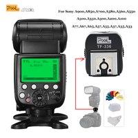 Pixel x800s Standard GN60 Wireless Flash Speedlite TTL HSS LCD Screen Light for Sony Mi Shoe Cameras & TF 336 Hot Shoe Adapter