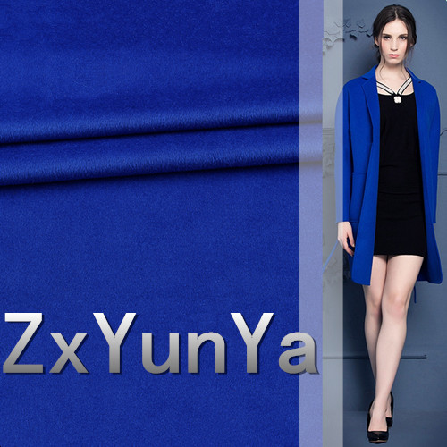 2017 new 148cm wide cashmere wool fabric 60% high quality wool blue atmosphere Shun hair winter cashmere jacket fabric