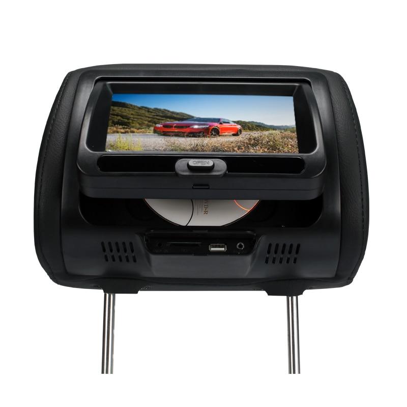 7 inch 800*RGB*480 pixels Car Headrest Monitor DVD Player with USB/SD/Game/IR/FM Pillow monitor TFT LED Screen Black SH7828DVD universal 9 car headrest dvd player tft led screen headrest monitor 800 480 game dvd usb sd ir fm transmitter