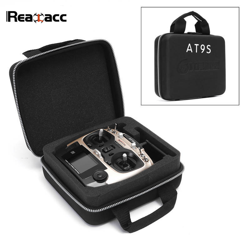 Realacc Waterproof Transmitter Remote Control Carrying Suitcase Case Hand Bag Box for Radiolink AT9S WFT07 WFT09II Black