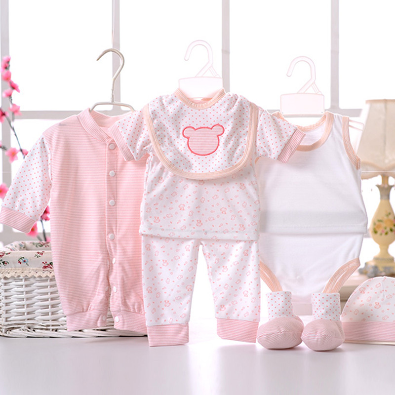 8pcssetNewborn-Baby-set-0-3M-Brand-Boy-Girl-baby-Clothes-set-Cotton-Printed-Single-breasted-Underwear-B-021-5