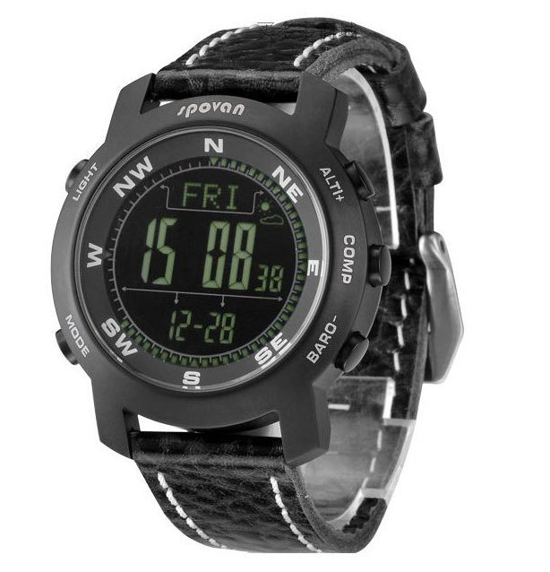 SPOVAN Outdoor sport climbing electronic watch, compass compass table, timing, altimeters table