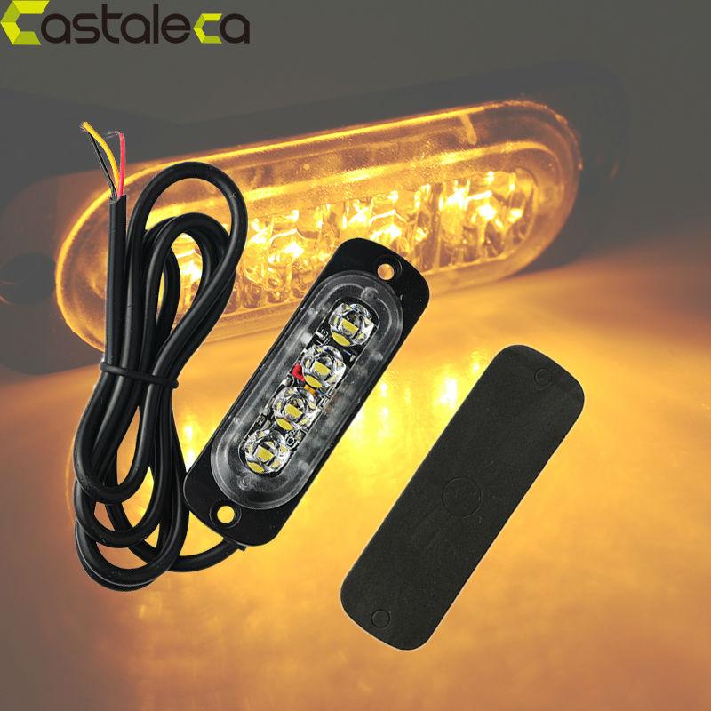 12v 4 Led Car Strobe Light Police Strobe Flash Lightbar