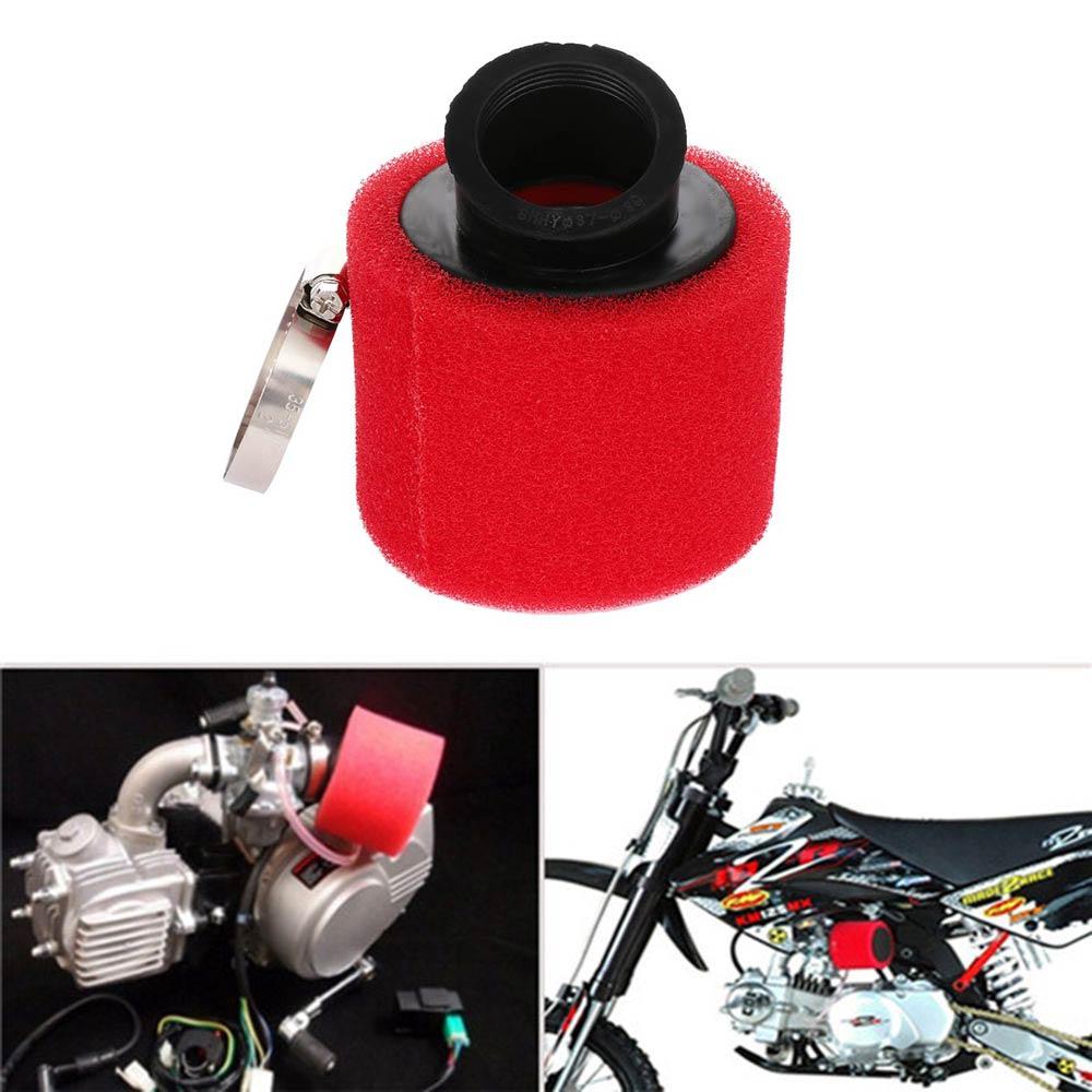 Red Fuel Hose 38mm Air Filter For 110cc 125cc ATV Quad Pit Dirt Monkey Moto Bike