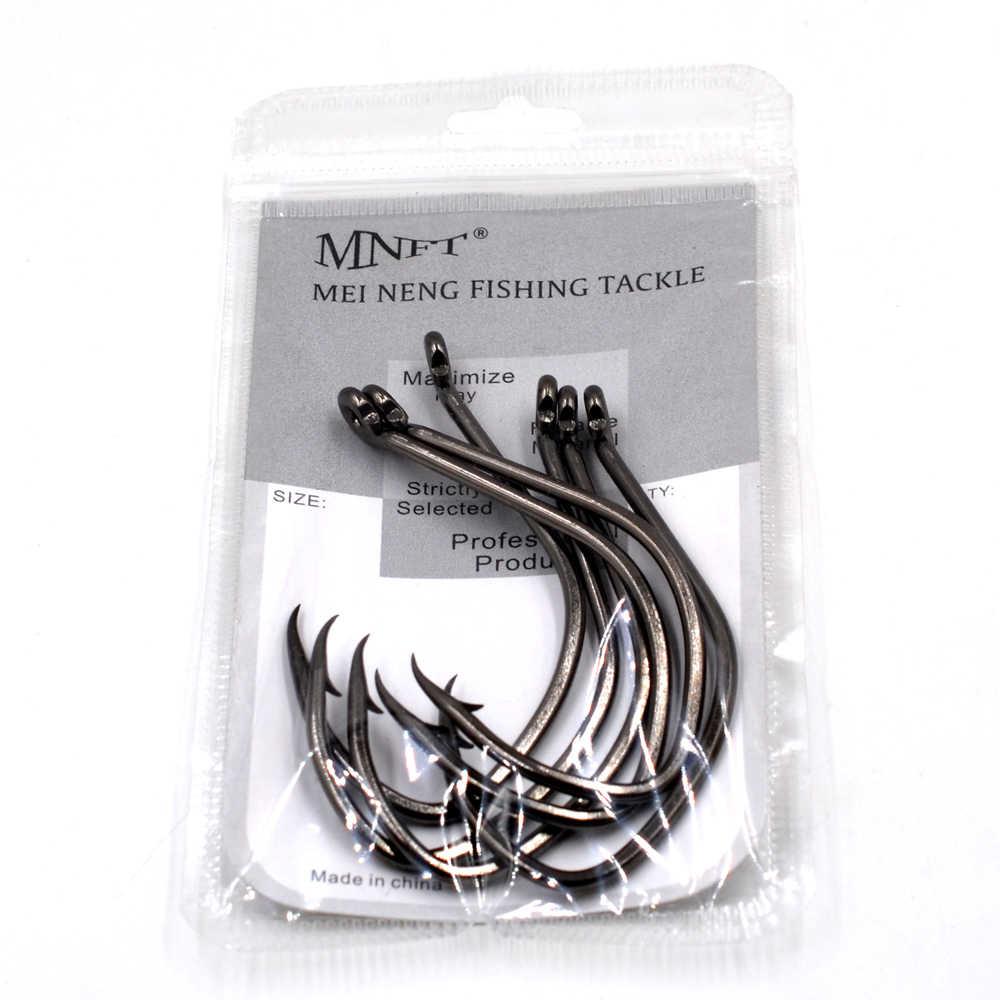 MNFT 50 قطعة 10/0 # عالية الكربون الصلب الأسود نيكل السلور هوك حاد كرنك هوك القفز البحر الصيد السنانير