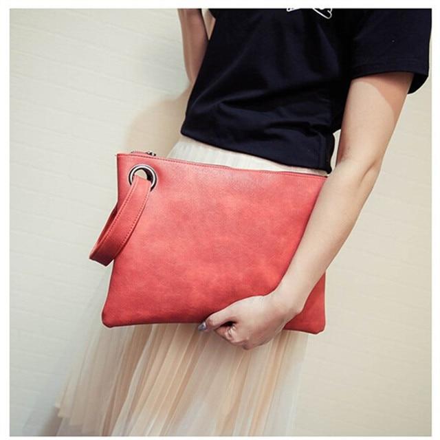 Fashion solid women s clutch bag leather women envelope bag clutch evening  bag female Clutches Handbag free shipping ffcbd1ffecd0f